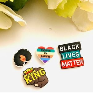 Black Lives Matter 4 Jibbitz yes, queen, fist new